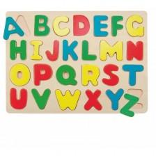 Дървен пъзел Woody - Английската азбука -1