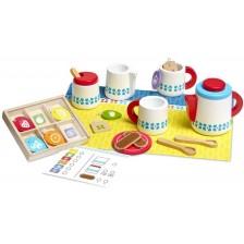 Дървен сервиз за чай Melissa & Doug -1