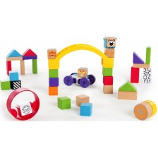 Дървена играчка Hape - Кубчета за откриватели -1