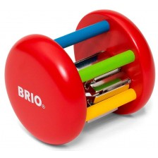 Дървена дрънкалка Brio, цветна -1