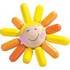 Дървена бебешка дрънкалка Haba, Слънчице -1