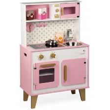 Дървена кухня Janod - Candy Chic, розова -1