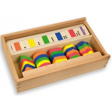 Дървена логическа игра Andreu toys - Форми и цветове -1