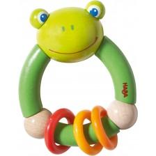 Дървена бебешка играчка Haba, Жаба -1