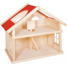 Дървена къща за кукли на 2 етажа Goki -1