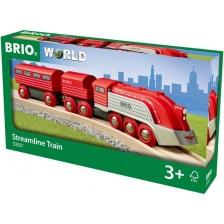 Дървена играчка Brio - Влакче Streamline Train -1