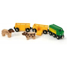 Дървена играчка Brio - Влакче Ферма -1
