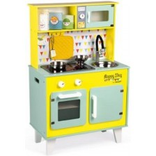 Дървена кухня Janod - Happy Day, жълта -1