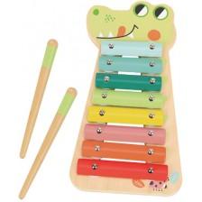 Дървена музикална играчка Tooky Toy - Ксилофон -1