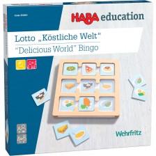 Дървена игра Haba Education - Бинго, вкусен свят -1