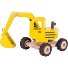 Детска играчка багер Goki, жълт -1