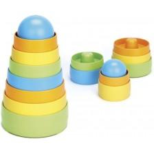 Детска играчка за сортиране Green Toys - Кула, с 8 части -1