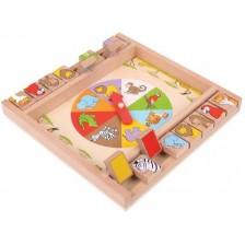 Детска дървена игра Bigjigs - Животни -1