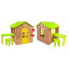 Детска къщичка Mochtoys - С маса и стол -1