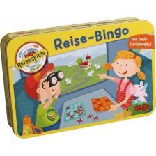 Детска магнитна игра Haba - Пътуващо бинго, в метална кутия -1