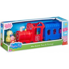 Детска играчка Peppa Pig - Влакче с 2 фигури -1