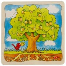 Детски многослоен пъзел Goki - Дърво -1