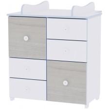 Детски шкаф Lorelli New, Бяло и син бряст -1