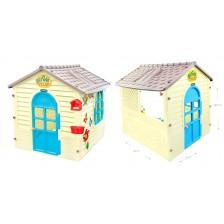 Детска къщичка Mochtoys - С дъска за рисуване -1