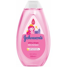 Детски шампоан за блясък Johnson's - Shiny drops, 500 ml -1