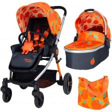 Детска комбинирана количка 2 в 1 Cosatto - Wowee, So Orangey -1