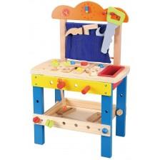 Игрален комплект Lelin - Дървена работилница -1