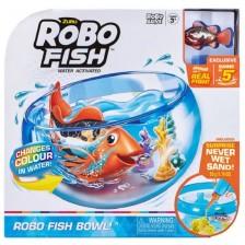 Детска играчка Zuru - Робофиш в аквариум, оранжева -1