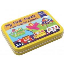 Детски пъзел Andreu toys - Превозни средства 2, 6 броя в кутия -1