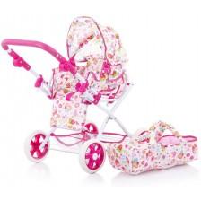 Детска количка за кукли Chipolino - Нели, градинка -1