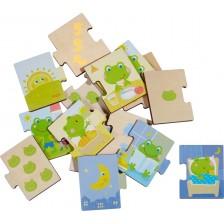 Детски пъзел Haba - Дневен режим на жабката -1