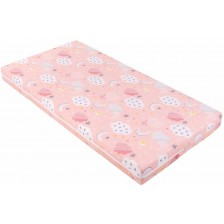 Детски матрак Kikka Boo - Fantasia Plus, 60 x 120 x 8 cm, Clouds Peach -1