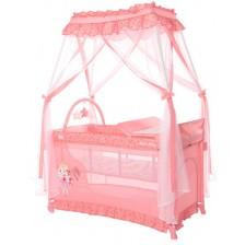 Детска кошара Lorelli Magic Sleep - Princess, розова  -1