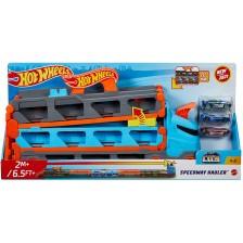 Детска играчка Mattel Hot Wheels - Автовоз, с 3 колички -1