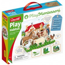 Детска игра Quercetti Play Montessori - Опознай животните -1