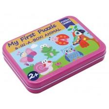 Детски пъзел Andreu toys - Животни, 6 броя в кутия -1