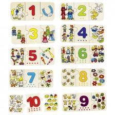 Детски пъзел Goki - Научи се да броиш и да подреждаш -1