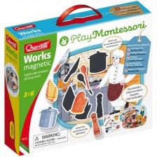 Детска игра Quercetti Play Montessori - Опознай професиите -1