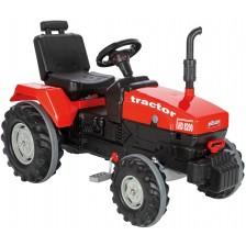 Детски трактор Pilsan, с педали, червен -1