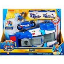 Детска играчка Spin Master Paw Patrol - Трансформираща се полицейска кола, Чейс -1