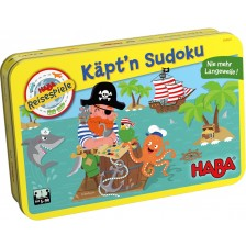 Детска магнитна игра Haba - Судоку, в метална кутия -1