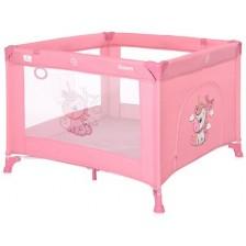 Детска кошара Lorelli Happy Game Zone - Еднорог, розова -1