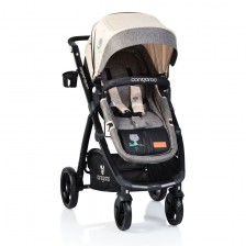 Детска комбинирана количка Cangaroo - Stefanie, 2в1, бежова -1