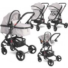 Детска комбинирана количка Lorelli - Alba Classic Set, Grey -1