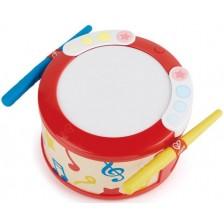 Детска музикална играчка Hape - Светещо барабанче -1