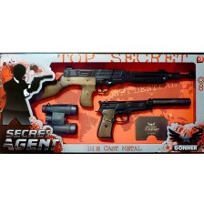 Детски комплект Gonher Secret Agent - Пушка -1