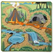 Детско килимче за игра Melissa & Doug - Праисторическа площадка -1
