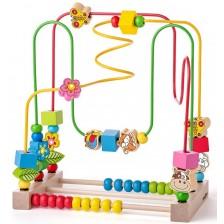 Детски лабиринт със сметало Woody - Животни -1