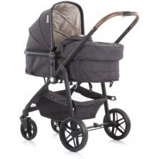 Детска комбинирана количка Chipolino - Адора, с бежово -1