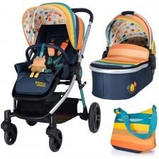 Детска комбинирана количка 2 в 1 Cosatto - Wowee, Goody Gumdrops -1