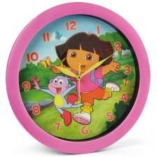 Детски стенен часовник Nickelodeon - Дора изследователката, Ø 28cm -1